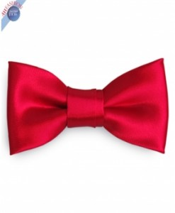 Silk Valentine Red Bow Tie
