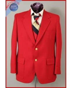Mens Red Blazer 2-Button by HardWick