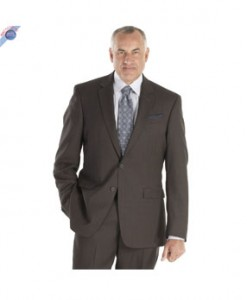 Men's Chocolate Brown 2-Button Suit Super 150's Wool Made in Italy