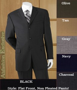 2 or 3 Button Super 150s Wool Mens Suits in All Colors