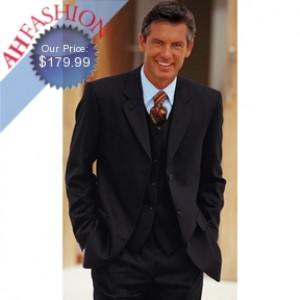 Vested Dark Navy Suit Super 150's Wool Suit On Sale $179.99