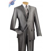 2 BUTTON MEN'S GRAY SLIM FIT SUIT