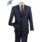 2 BUTTON MEN'S MIDNIGHT BLUE  SLIM FIT SUIT