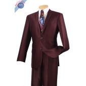 2 BUTTON MEN'S PLUM SLIM FIT SUIT