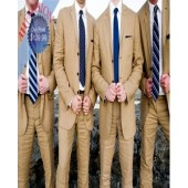AHFASHION's 3 Button Dark Tan Wedding Suits / Grooms Suits