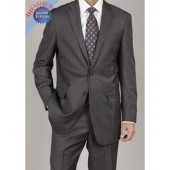 Timeless Gray Stripe Mens Suit by G.Fiorelli (5 colors)