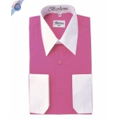 FUCHSIA TWO TONE DRESS SHIRT