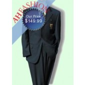 $1275 Navy Super 140's Wool Mens Suit Mens Italian Suit