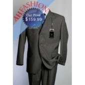 Luxurious Mens Suit in Cloudy Gray High Twist Super 140's Wool Cashmere Blend Vented, pleated pant