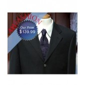 $899 Brand Super 130's Virgin ITALIAN Wool New Black Blazer 100% Wool Custom Button w/ Design