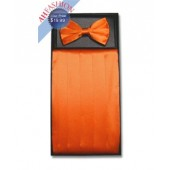 Orange Bow Tie and Cummerbund Set
