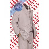 Beautiful Shadow Stripe Mens Silver Suit, Super 150s Wool, 7 Colors, 100% Italian, Almost Gone! Hurry