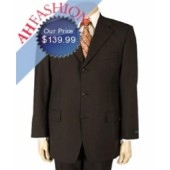 Dark Brown Super 130s Wool Suit Vented Ultra Smooth Fabric